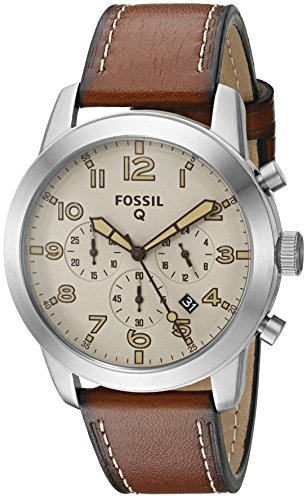 Fossil Q Pilot Light Brown Leather Smartwatch