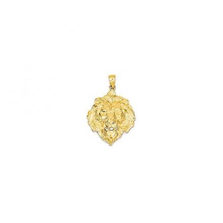 14k Yellow Gold Lion Charm (24 x 30 mm)