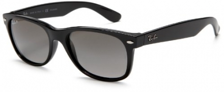Ray-Ban RB2132 New Wayfarer Polarized Sunglasses,Black/Polarized Gradient Gray,52 mm