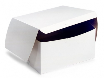Bakery Boxes – 8x8x4″ White Bakery Boxes 1 – piece Lock Corner Box – (200 Per Pack) – WRAPS-BBWH884