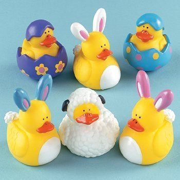 EASTER RUBBER DUCKIES (1 DOZEN) – BULK by FX