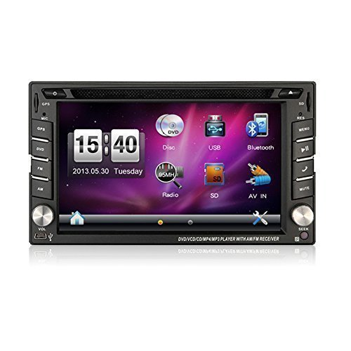 Bosion 6.2-inch Double DIN Gps Navigation for Universal Car Free Backup Camera