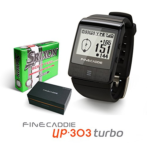 Golf GPS Rangefinder Golf GPS Watch 2015 NEW FineCaddie UP303 Turbo, GIFT for Golf Ball 1 SET(Black)