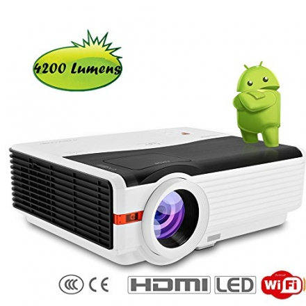 CAIWEI HD LED Multimedia HDMI Projector Home Theater Cinema Video Games TV Movie Outdoor Activities