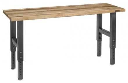 Gladiator GAWB06MTZG 6-Feet Adjustable Height Maple Work Bench