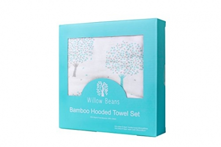 Bamboo Baby/Toddler Hooded Towel and Washcloth Gift Set – Ultra Soft – Ultra Absorbent – Available i
