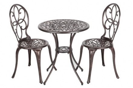 Patio Sense 3-Piece Antique Bronze Cast Aluminum Bistro Set