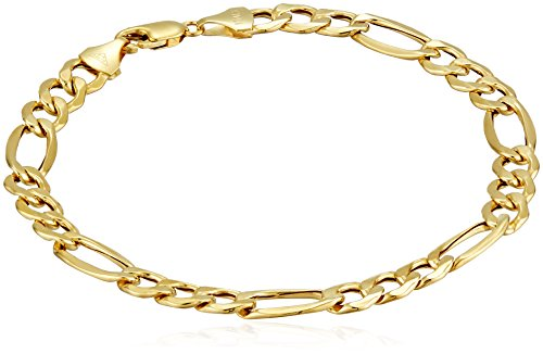 Men's 10k Yellow Gold 7.5mm Figaro Bracelet, 8.5″