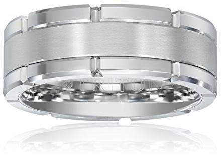 Triton Men's Tungsten 8mm Contemporary Wedding Band