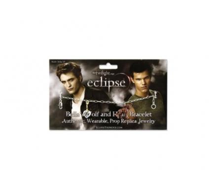 "Twilight ""Eclipse"" Bellas Wolf and Heart Bracelet"