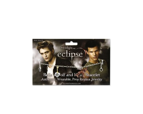 "Twilight ""Eclipse"" Bellas Wolf and Heart Bracelet"