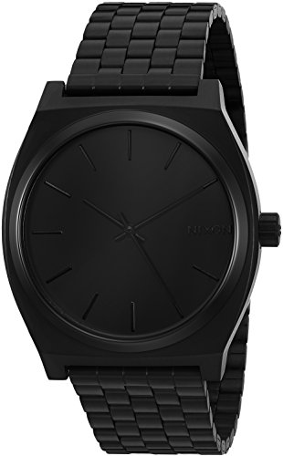 Nixon Men's A045-001 Minimal The Time Teller Black Stainless Steel Watch