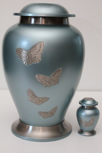 New World Accents Butterfly Adult Funeral Cremation Urn W/Engraving