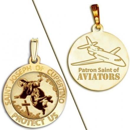Saint Joseph of Cupertino Aviator Religious Medal