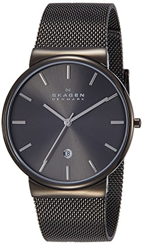 Skagen Men's SKW6108 Ancher Gray Stainless Steel Watch with Mesh Band
