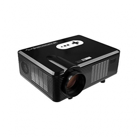 FastFox HD Projector Full Color 720P 3000 Lumens Analog TV Single LCD Panel LED Technology Multimedi