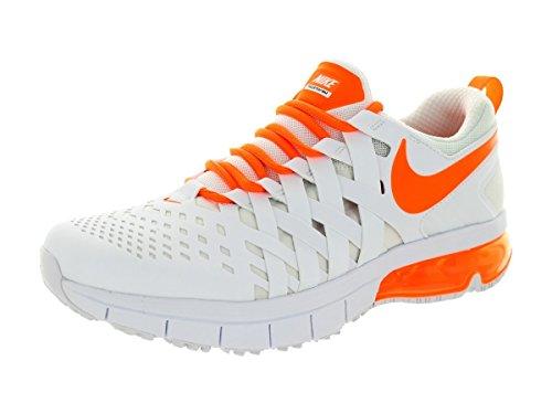 Nike Men's Fingertrap Max White/Total Orange/Black Running Shoe 9.5 Men US