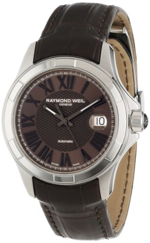 Raymond Weil Men's 2970-STC-00718 Parsifal Automatic Steel case and Leather strap Watch