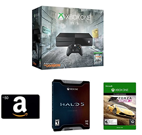 Xbox One 1TB Console – Tom Clancy's The Division Bundle + Amazon.com $50 Gift Card (Physical Card) +