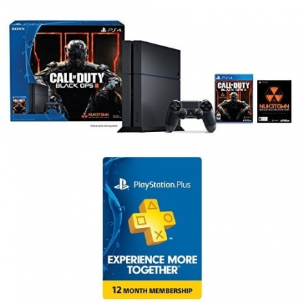PlayStation 4 500GB Console – Call of Duty Black Ops III Bundle with 1-Year PlayStation Plus Members