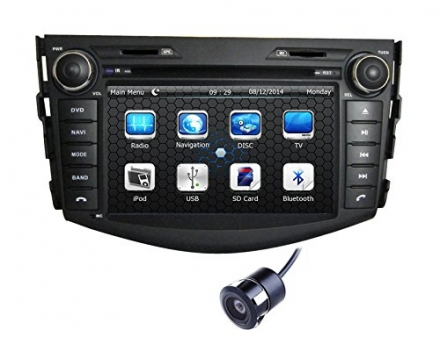 Crusade 7 Inch in Dash HD Touch Screen Car DVD Player FM/AM Radio Stereo Navigation For Toyota Rav4