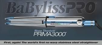 BaBylissPRO Nano Titanium Prima3000 Ionic Straightener, 1.25 Inch, 1.5 lb.