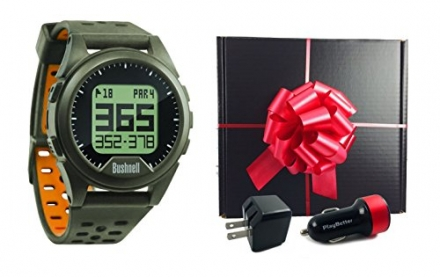 Bushnell Neo Ion (Charcoal/Orange) Golf GPS Watch GIFT BOX | Includes Bushnell Neo Ion Watch, USB Wa