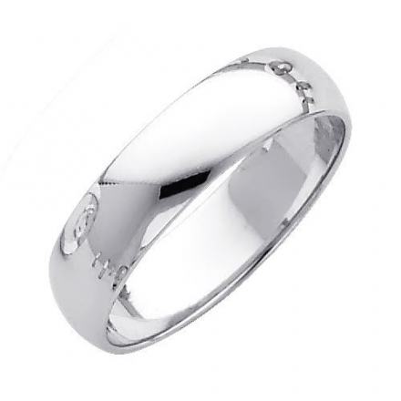 Wellingsale® Mens 14k Yellow -OR- White Gold Solid 5mm CLASSIC FIT Traditional Wedding Band Ring