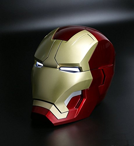 [Ring Control] 1:1 Full Scale Iron Man Wearable ABS Helmet Mark 42 Mark 43 MK42 MK43 Prop Replica Co