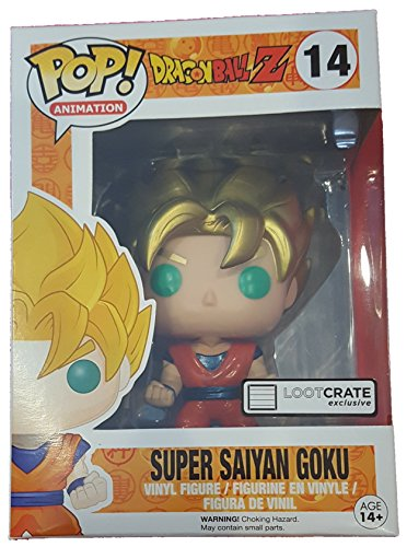 Funko POP! Anime: Dragonball Z Super Saiyan Goku Metallic Exclusive