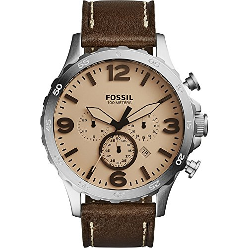 Fossil Nate Chronograph Leather Watch