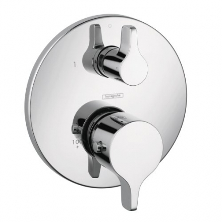 Hansgrohe 04352000 E/S Thermostatic Trim with Volume Control, Chrome