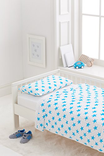 aden + anais Classic Toddler Bed in a Bag – Fluro Blue Kids Bedding Sets: Toddler Bedding, Toddler P
