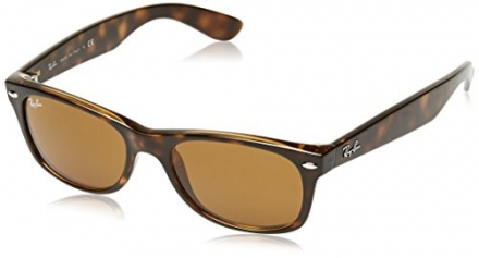 Ray-Ban New Wayfarer Sunglasses, 52mm, Shiny Avana Frm, Brown Crystal Gradient Lenses
