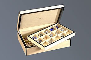 Venlo Blond Thirty Holder Cufflink Case