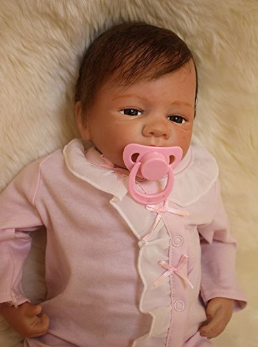 Reborn Doll with Magnetic Mouth,Baby Doll,Cute Girl Baby with Rooting Hair#YDK-2