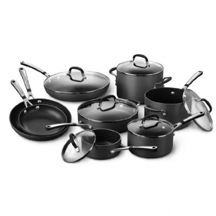 Simply Calphalon Nonstick Cookware Set, 14 Piece