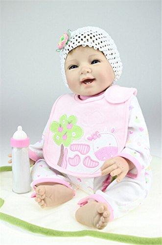 New Reborn Baby Doll Lifelike Newborn Handmade Silicone 22″ Gift Realistic