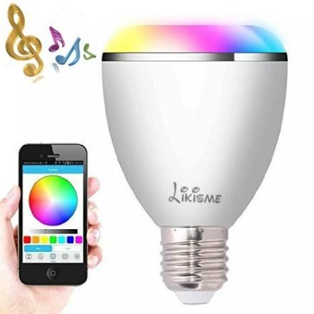Smart Bluetooth Bulb,Likisme® Smart Bluetooth Wireless Multicolored LED Light Bulb with Speaker, fo