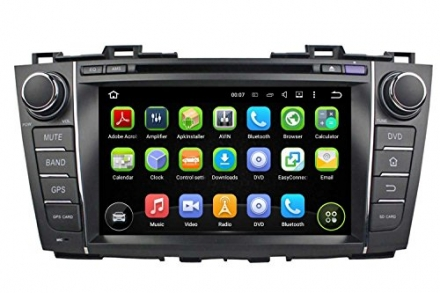 8 Inch Android 5.1 Lollipop OS Quad Core 1.6G CPU 16G Flash 1024×600 Touchscreen Car DVD Player with