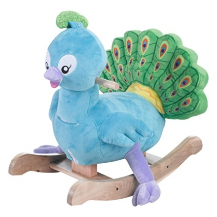 Rockabye Poppy Peacock Rocker Ride On