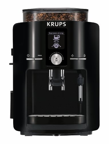 KRUPS EA8250 Espresseria Fully Automatic Espresso Machine Coffee Maker with Built-in Conical Burr Gr