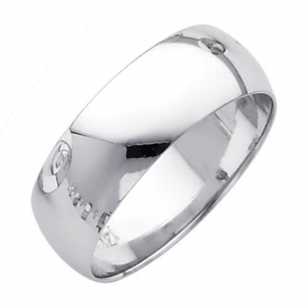 Wellingsale® Mens 14k Yellow -OR- White Gold Solid 7mm CLASSIC FIT Traditional Wedding Band Ring
