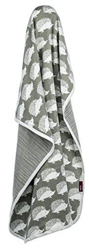 Milkbarn Organic Cotton Stroller Blanket – Gray Hedgehog