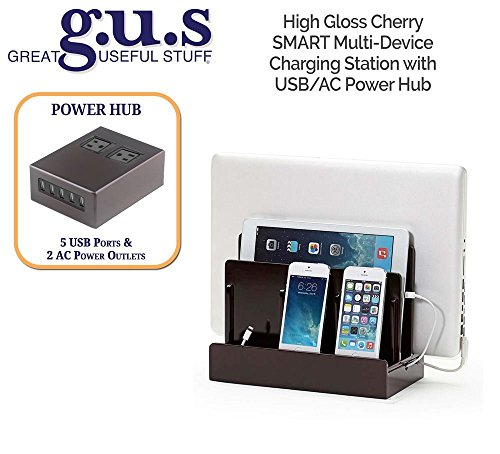 G.U.S. Multi-Device Charging Station Dock & Organizer – Multiple Finishes Available. For Laptops, Ta