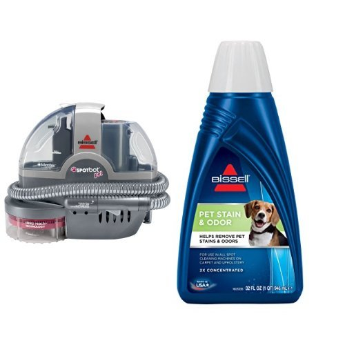 Pet Stain Remover Bundle – SpotBot Pet Spot and Stain Cleaner + Bissell 2x Pet Stain and Odor Portab