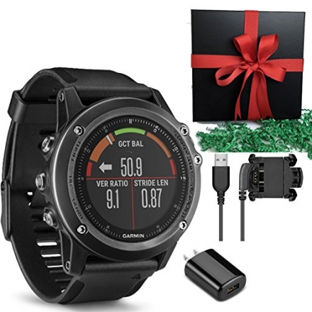 Garmin Fenix 3 HR, Gray GPS Activicty Tracker Sports Compas Watch IN GIFT BOX