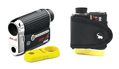 Leupold GX-4i2 Rangefinder with Magnetic Cart Mount (Black) Bundle | Includes Golf Laser Rangefinder