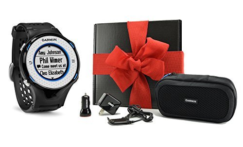 Garmin Approach S4 HOLIDAY GIFT BOX | Golf GPS Watch (blue/black), Case, Wall & Car Charge Adapters