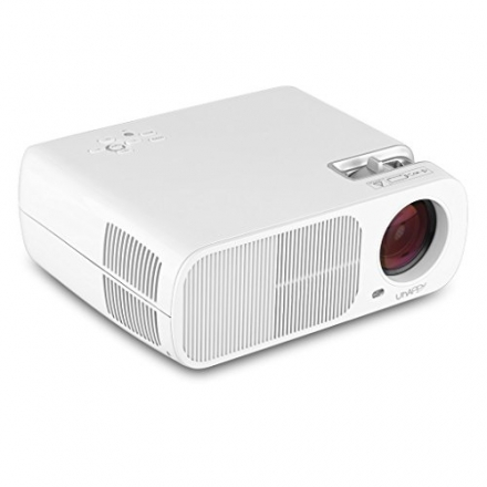 Uhappy 2600 Lumens Mini LED Projector LCD Home Theater Projector 800480, Support Red and Bue 3D Effe